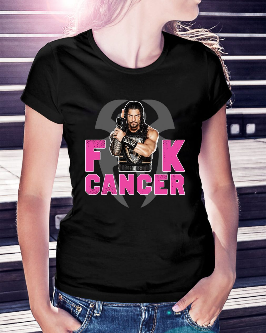 Roman Reigns fuck cancer Ladies Tee