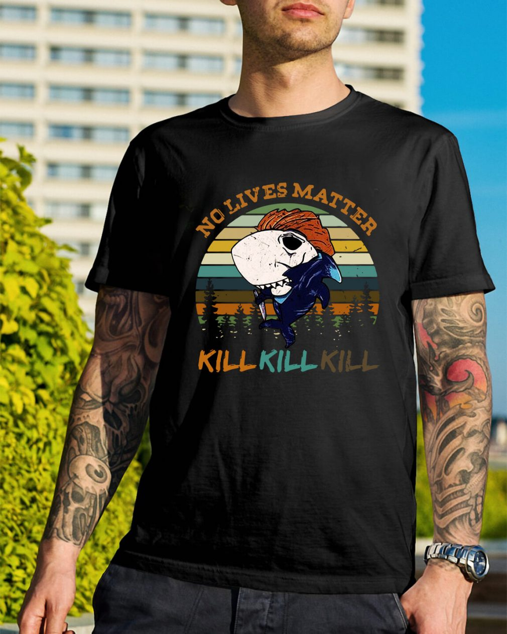 Shark no lives matter kill kill kill shirt