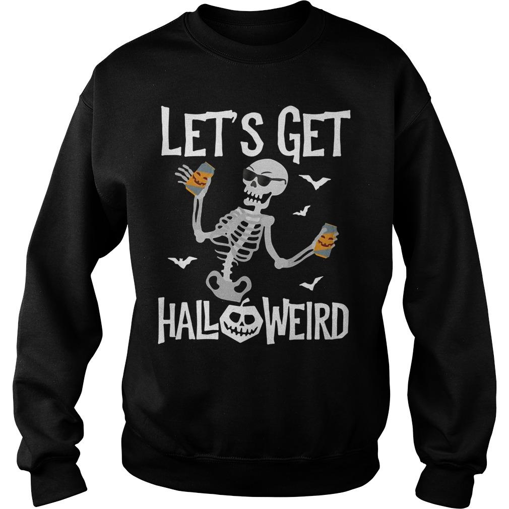 Skeleton let's get Halloweird Sweater