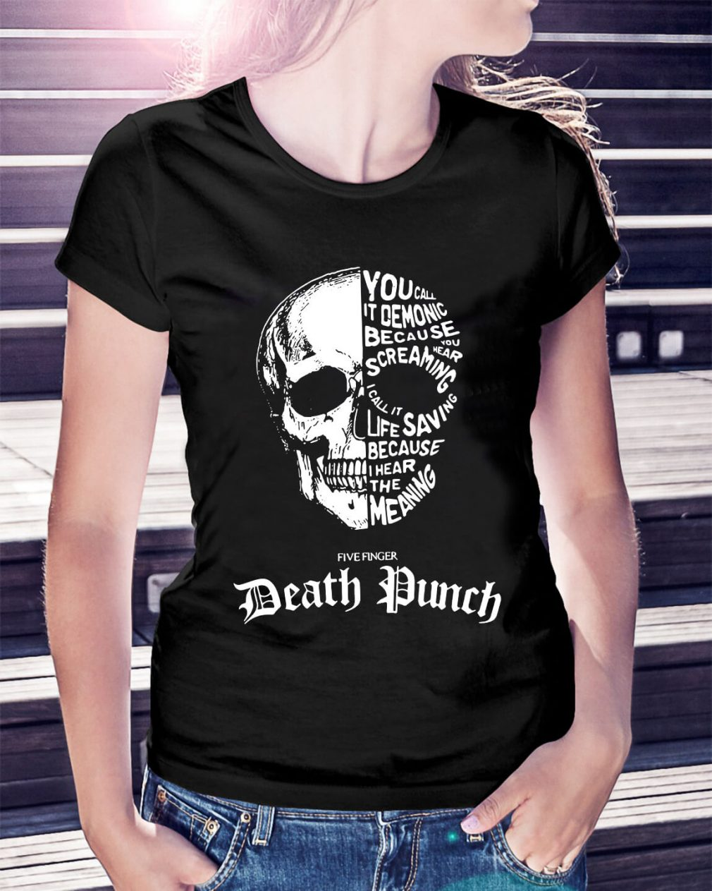 Skull - You call it demonic because you hear the screaming Ladies Tee