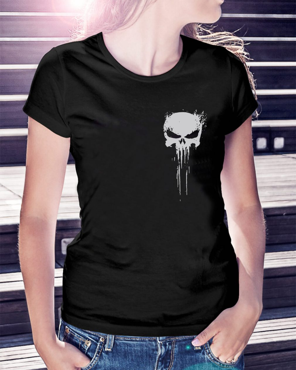 Skull - Innocents suffer and the guilty must be punished my battlefield Ladies Tee