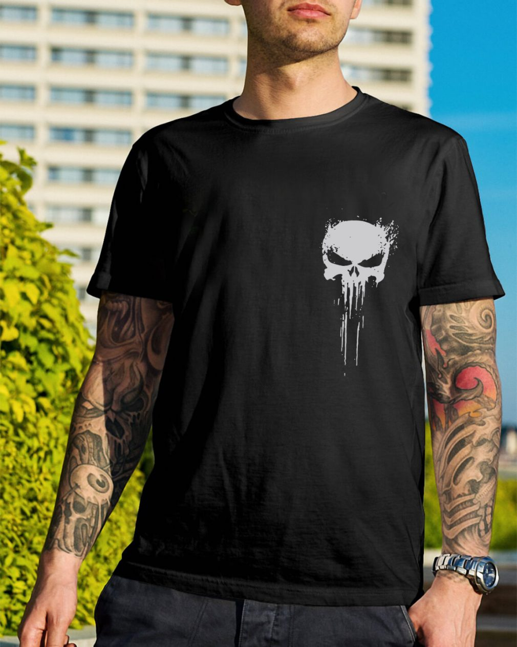 Skull - Innocents suffer and the guilty must be punished my battlefield shirt