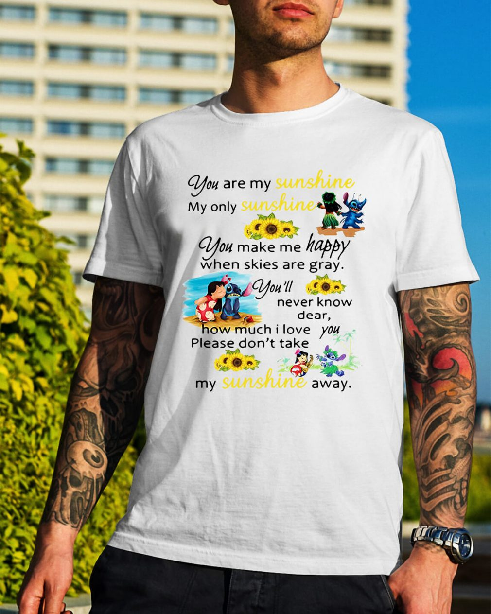 Stitch and Lilo Pelekai you are my sunshine my only sunshine shirt