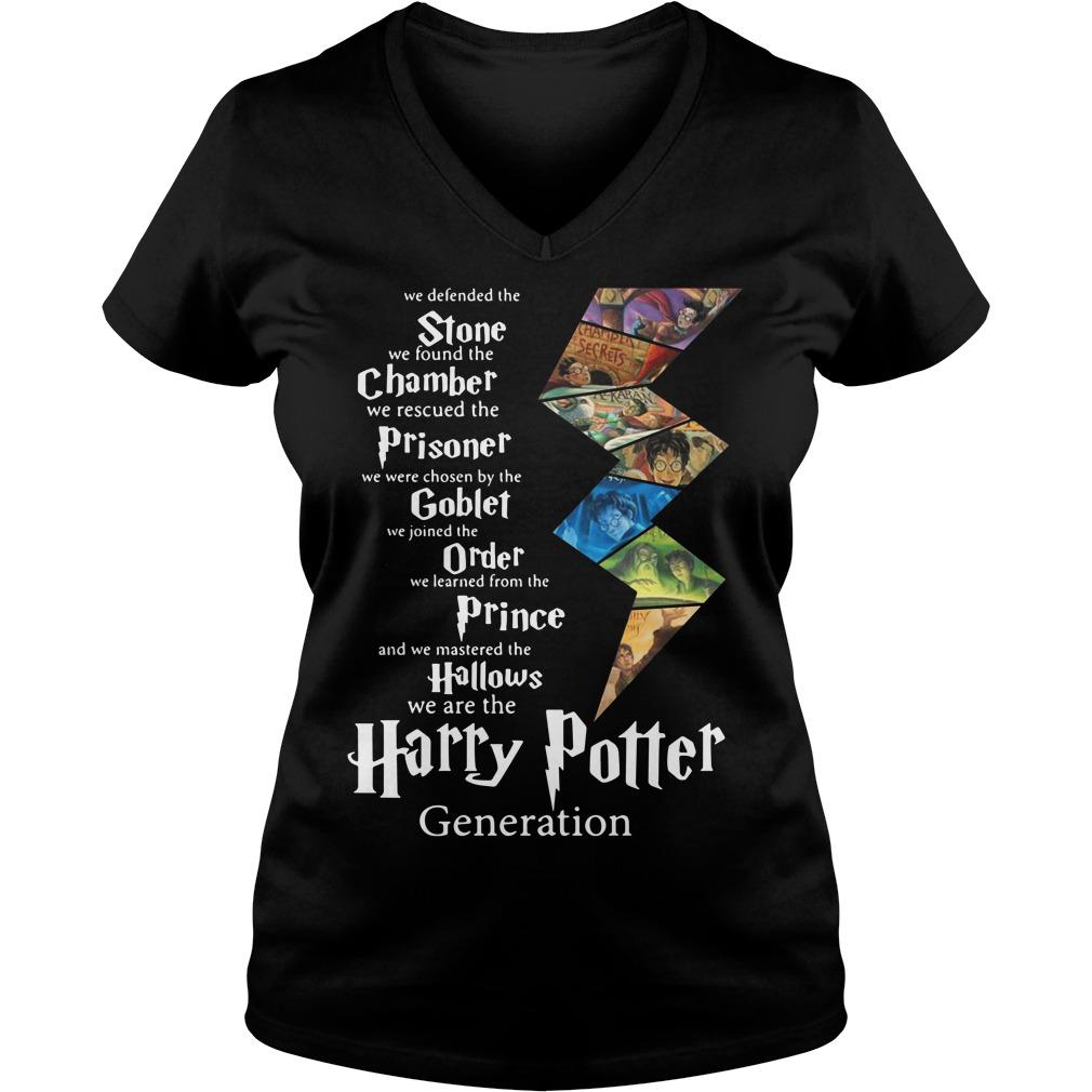 Stone Chamber Prisoner Goblet Order Prince Hallows Harry Potter V-neck T-shirt