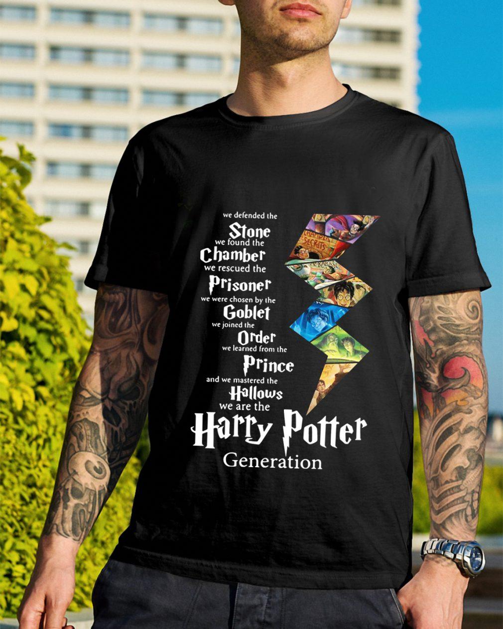 Stone Chamber Prisoner Goblet Order Prince Hallows Harry Potter shirt