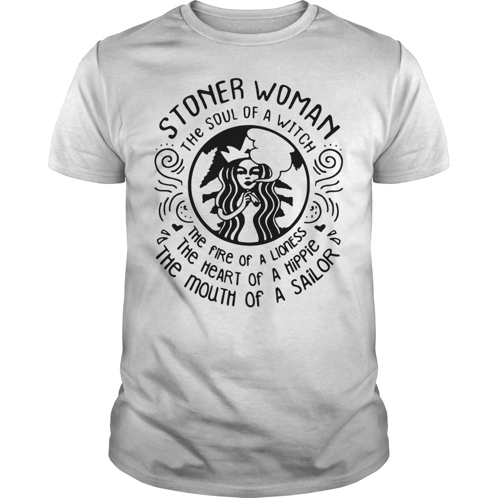 Stoner woman the soul of a witch the fire of a lioness Guys Shirt