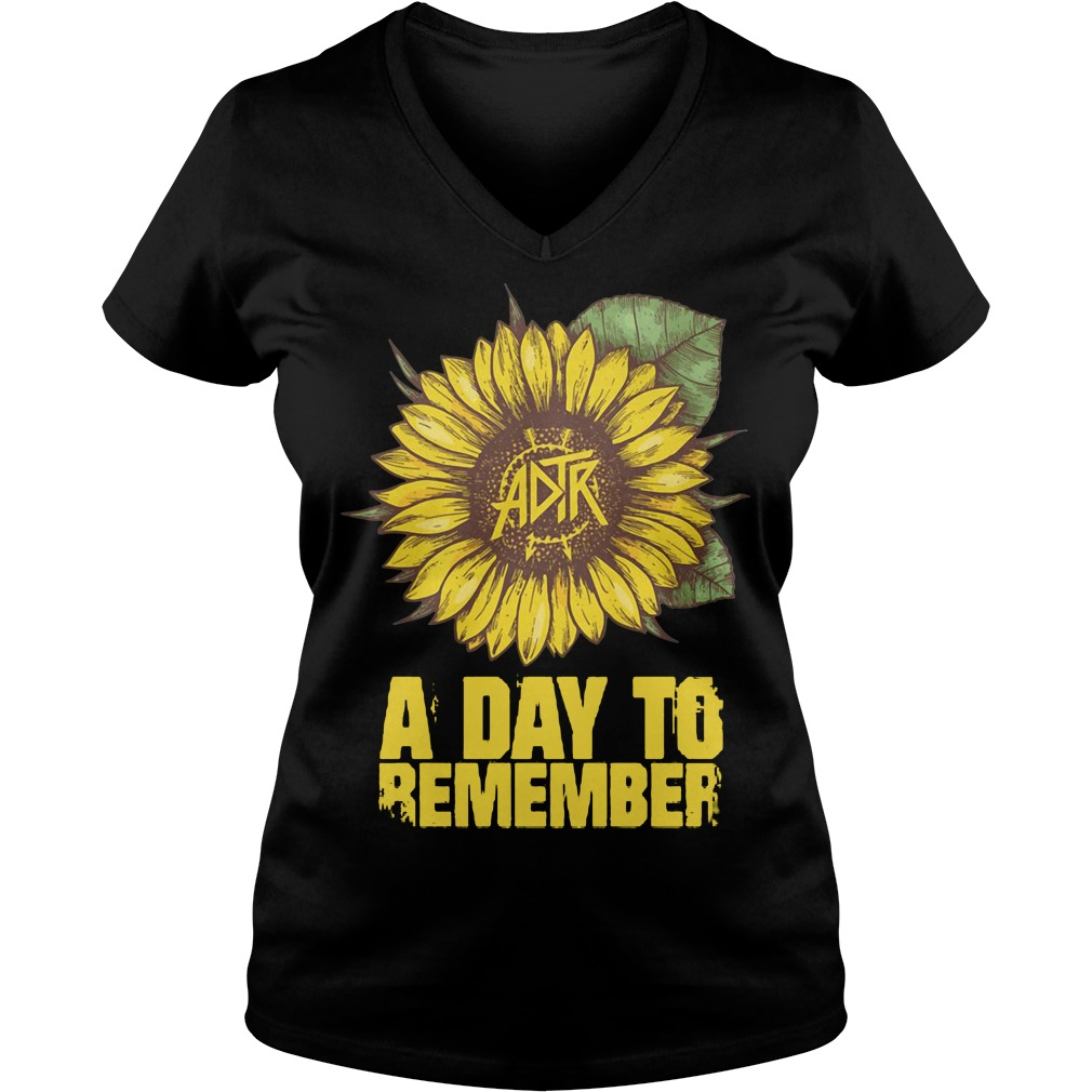 Sunflower ADTR aday to remember V-neck T-shirt