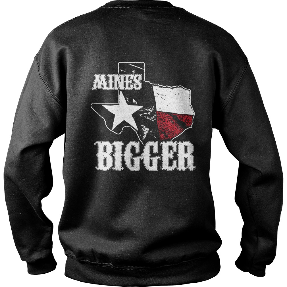 Texas mines bigger Sweater Back Mockup