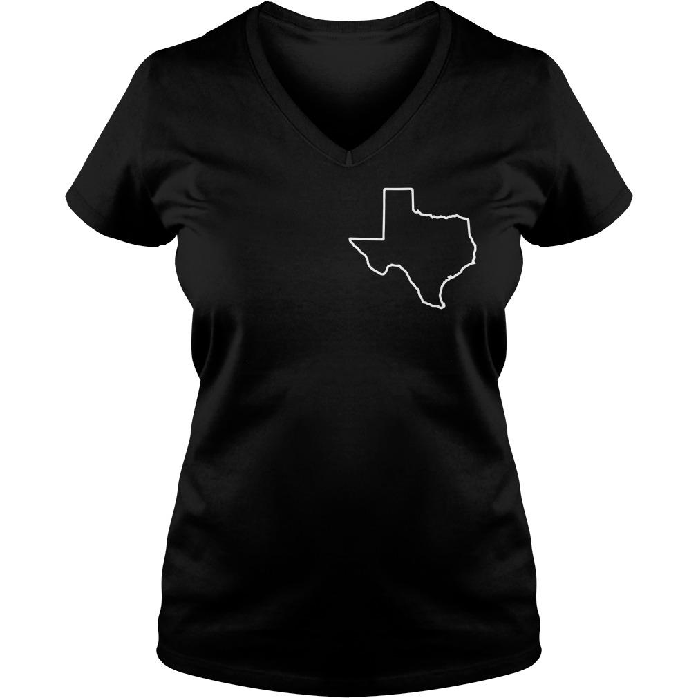 Texas mines bigger V-neck T-shirt