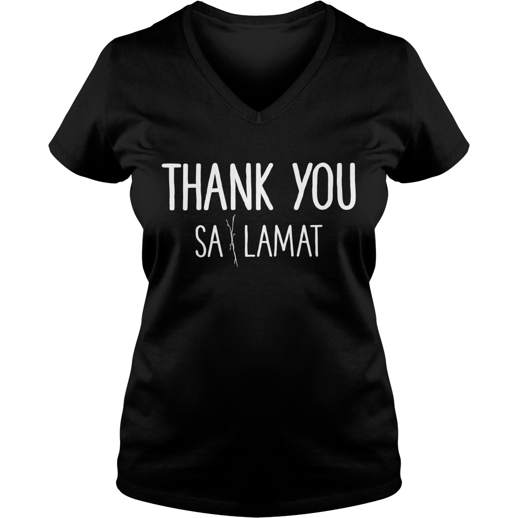 Thank you Sa Lamat V-neck T-shirt