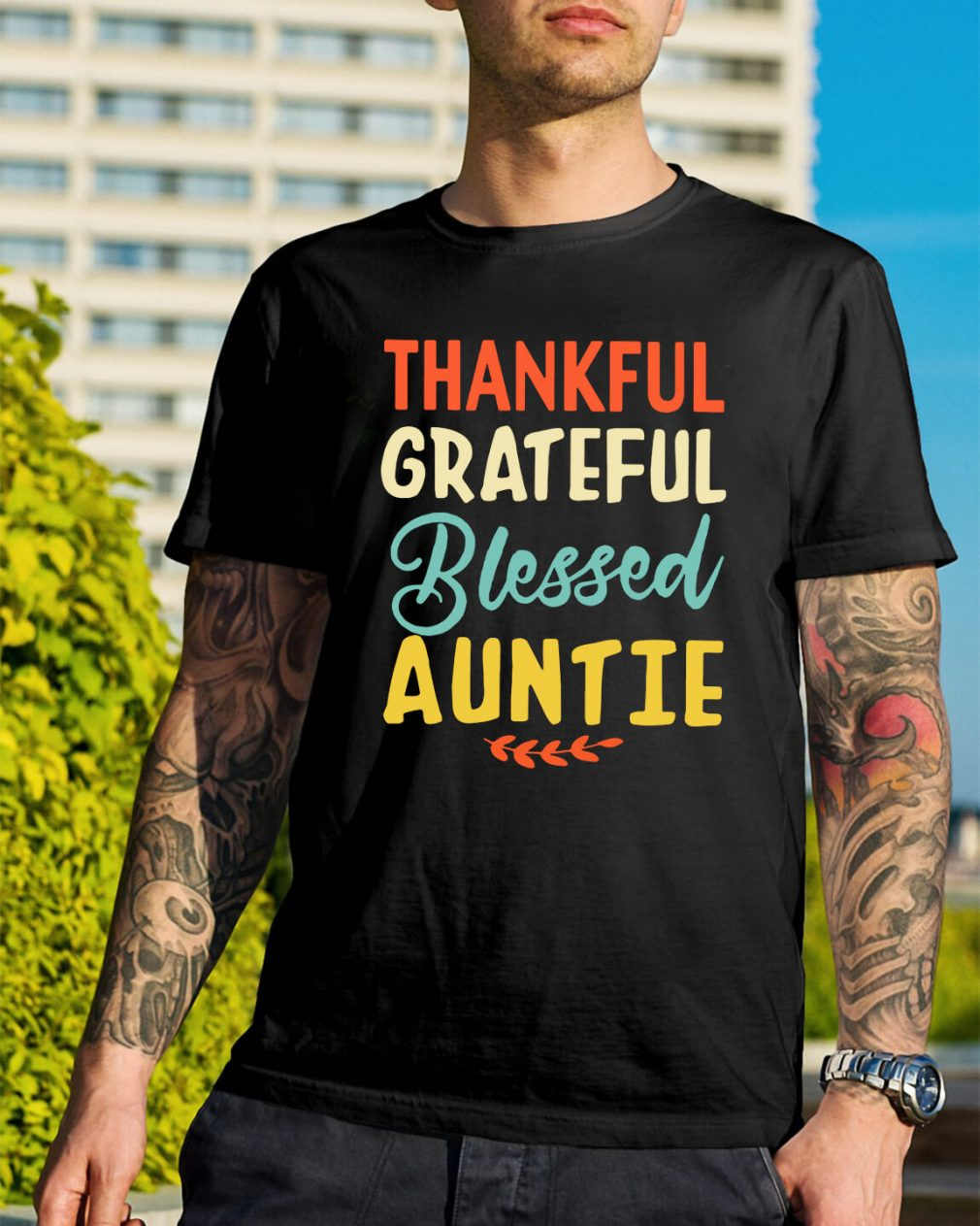 Thankful grateful blessed auntie shirt