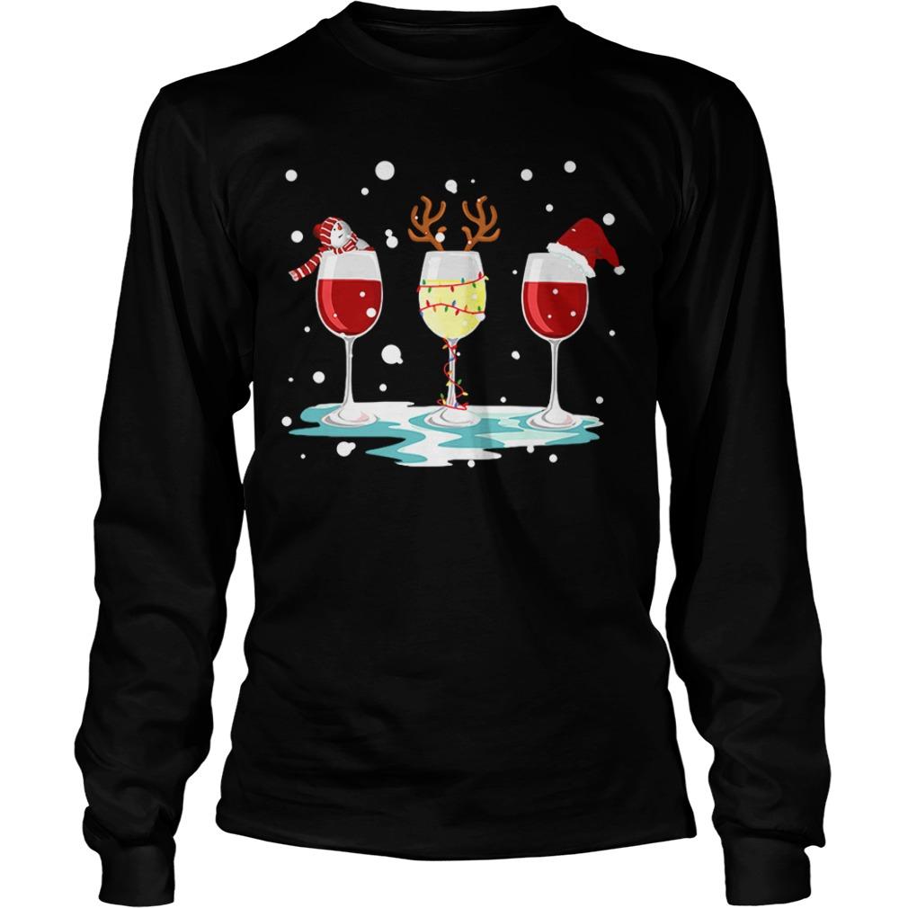 Three glasses of wine Christmas Longsleeve Tee