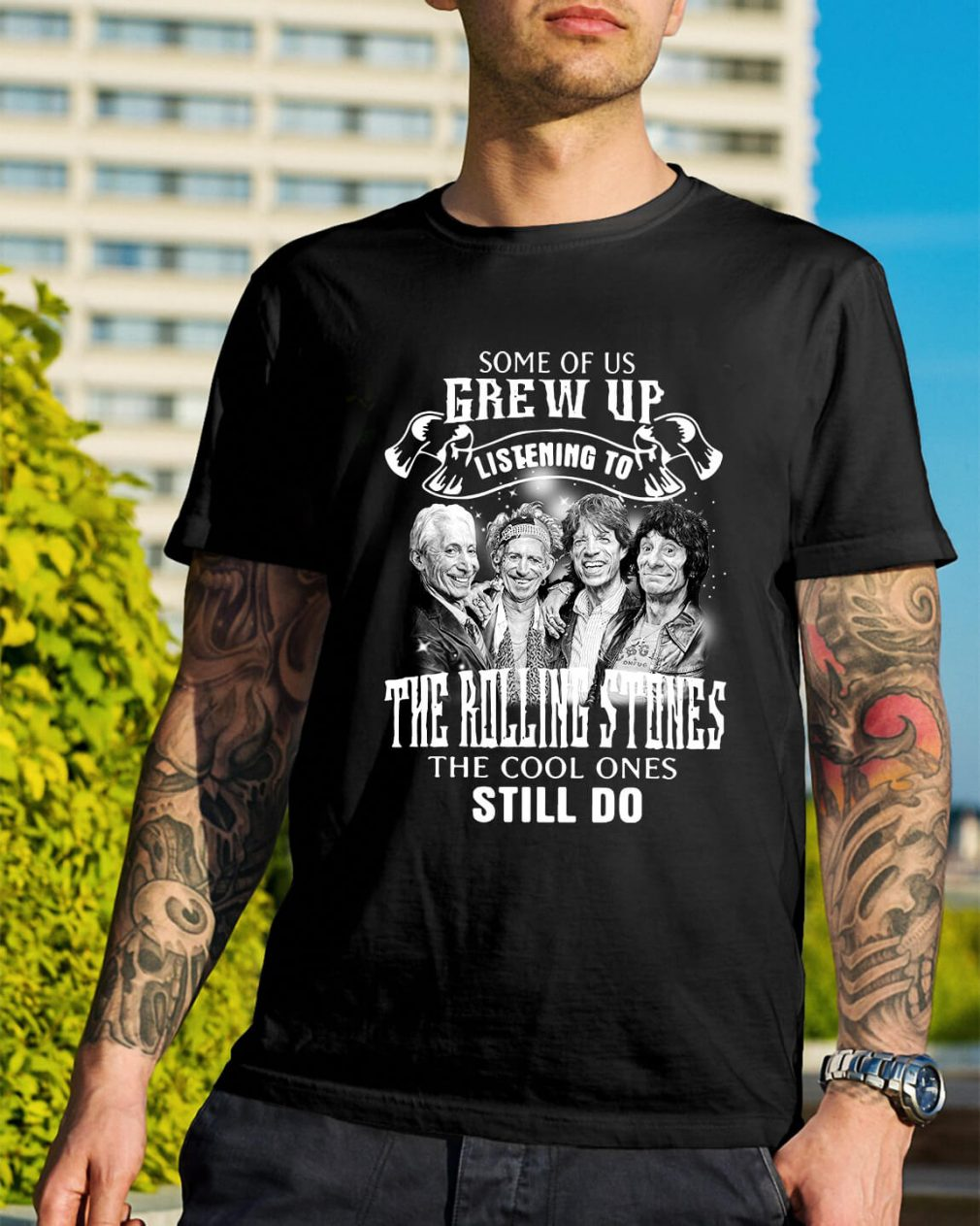 Some of us Grew up listening to the Rolling Stones the cool shirt