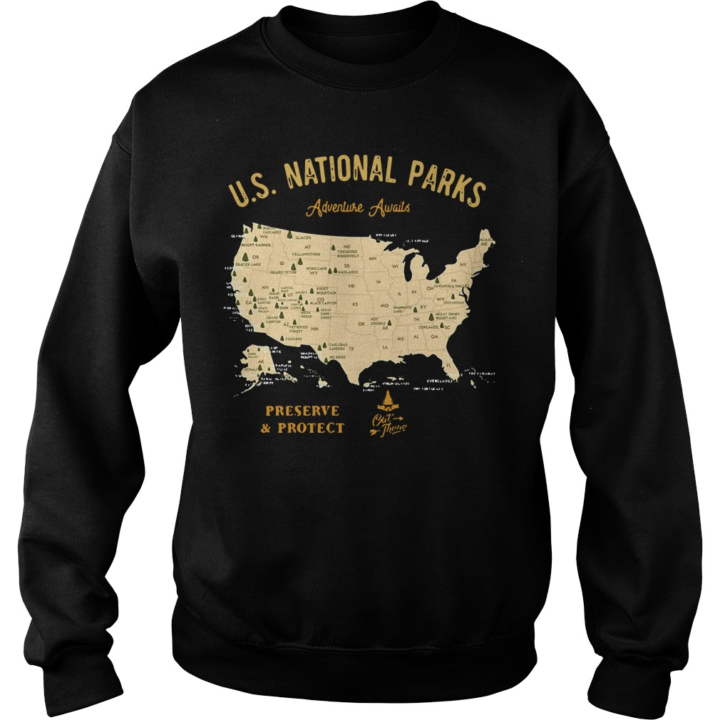 US national parks Adventure Awaits preserve and protect Sweater