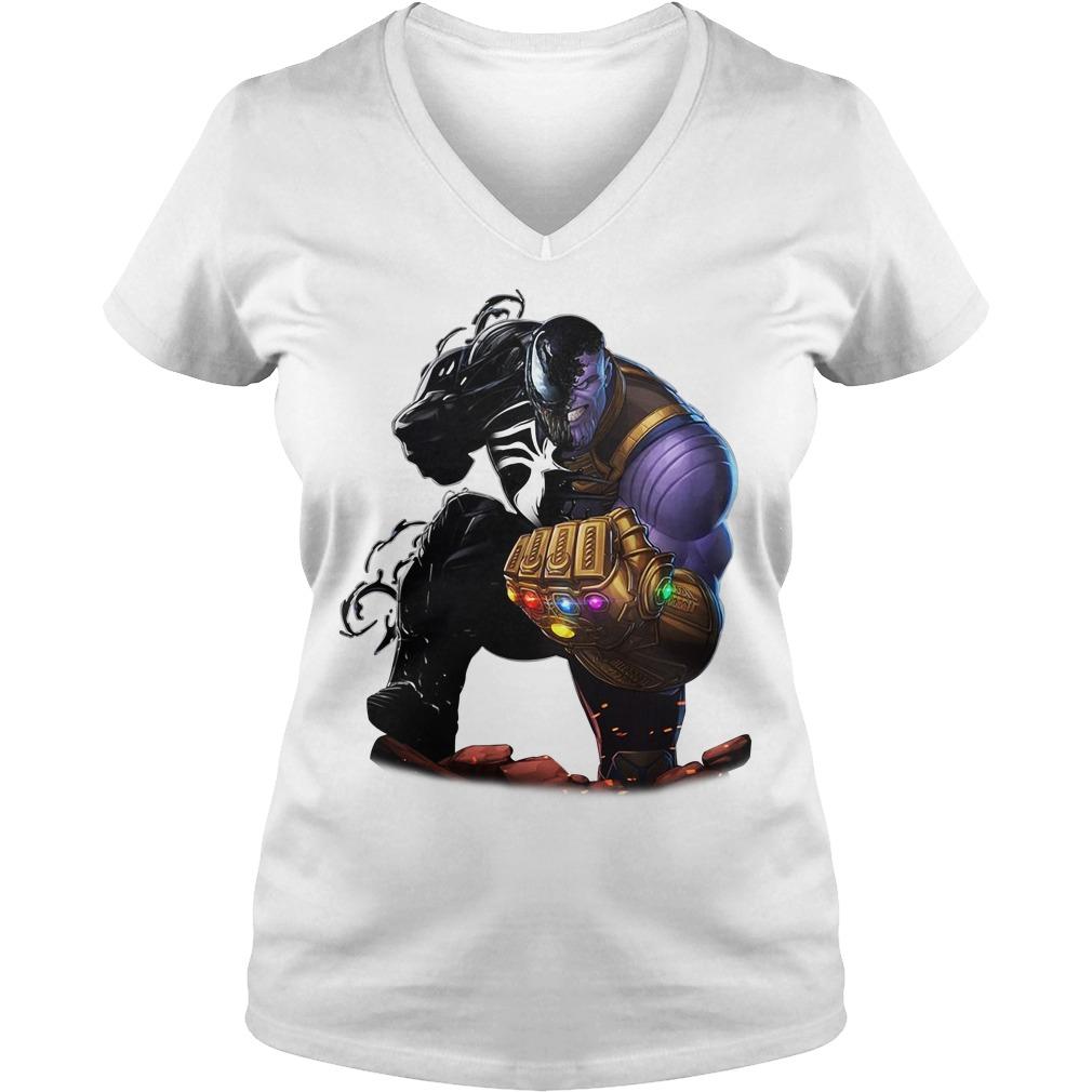 Venom Thanos we are Venom V-neck T-shirt