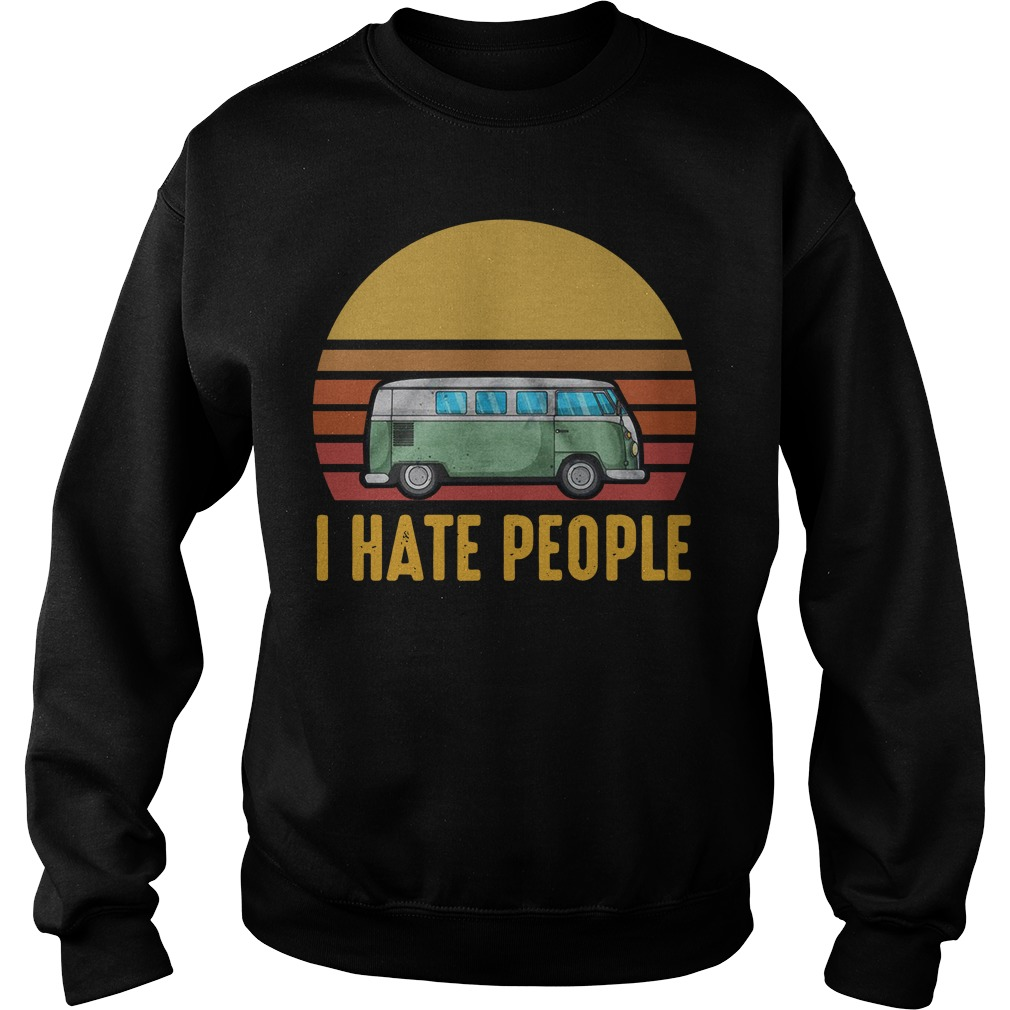 Vintage bus I hate people Sweater