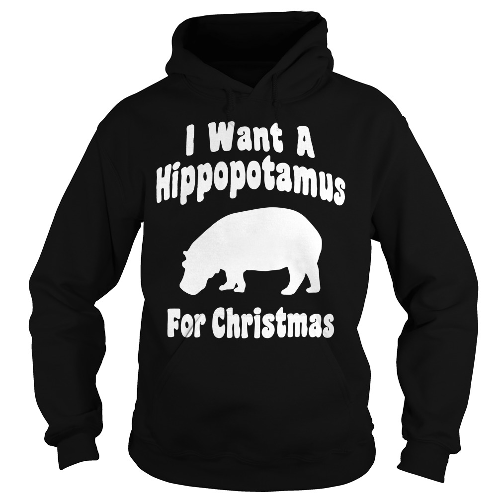 I want a hippopotamus for Christmas Hoodie