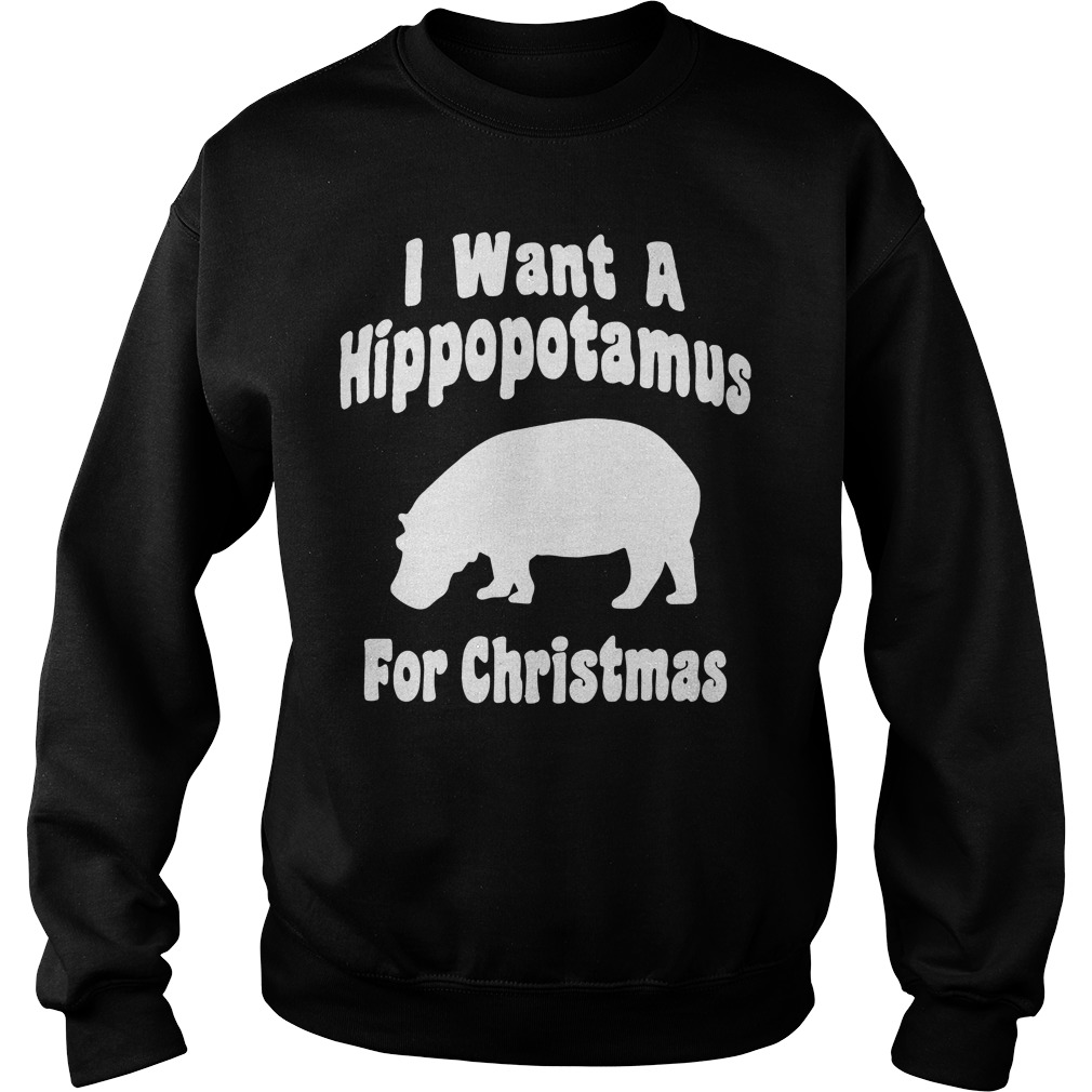 I want a hippopotamus for Christmas Sweater