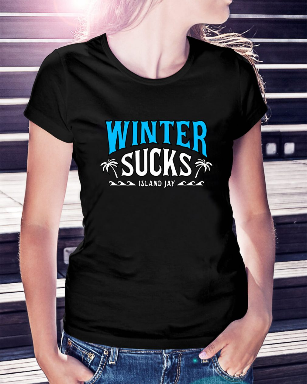 Winter sucks Island Jay Ladies Tee