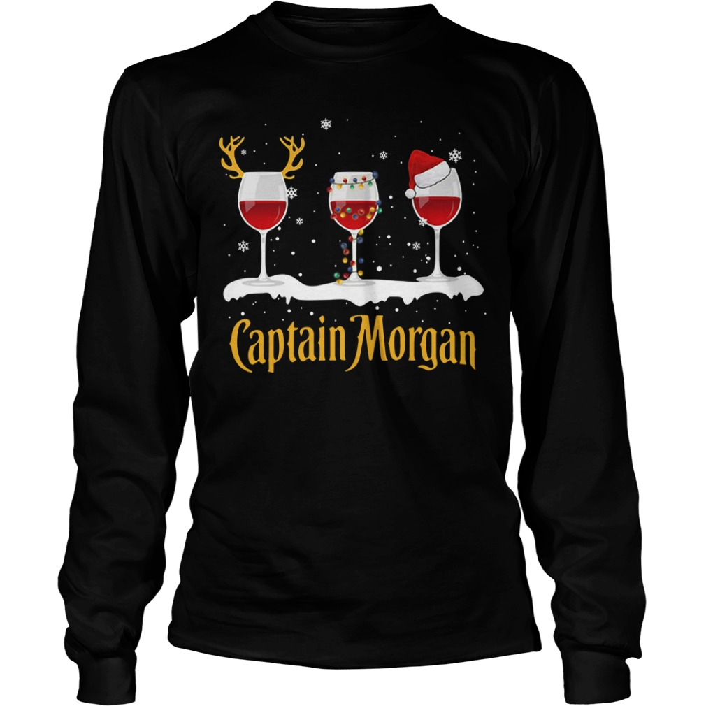 Xmas Captain Morgan Wine Longsleeve Tee