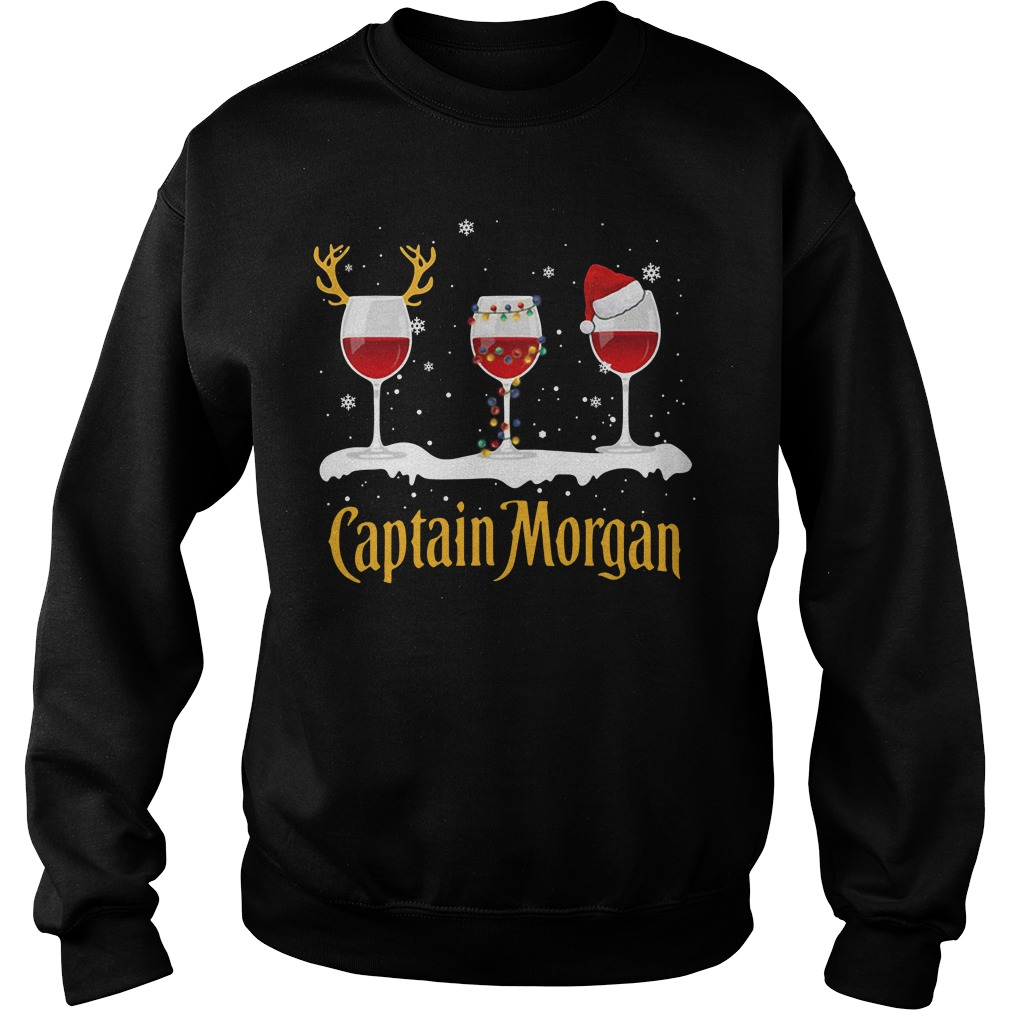 Xmas Captain Morgan Wine Sweater