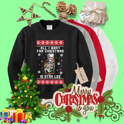 All I want for Christmas is Stan Lee ugly sweater