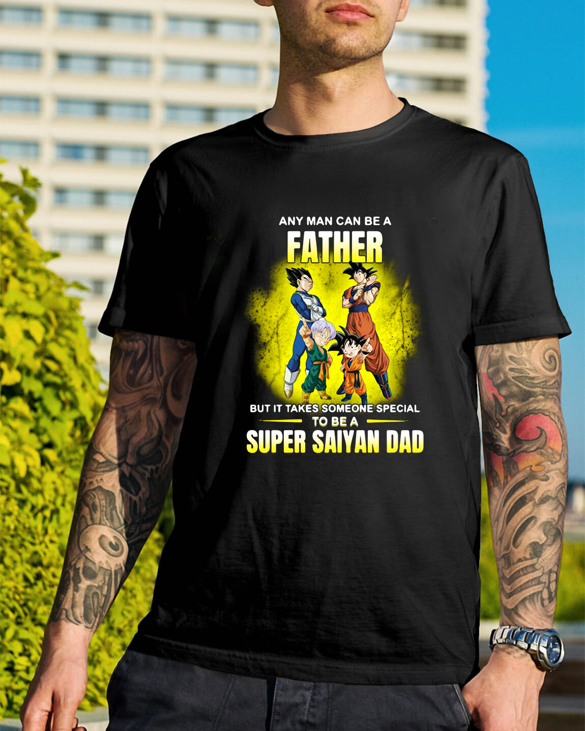 157d1845 A father but it takes someone special to be a Super Saiyan dad shirt