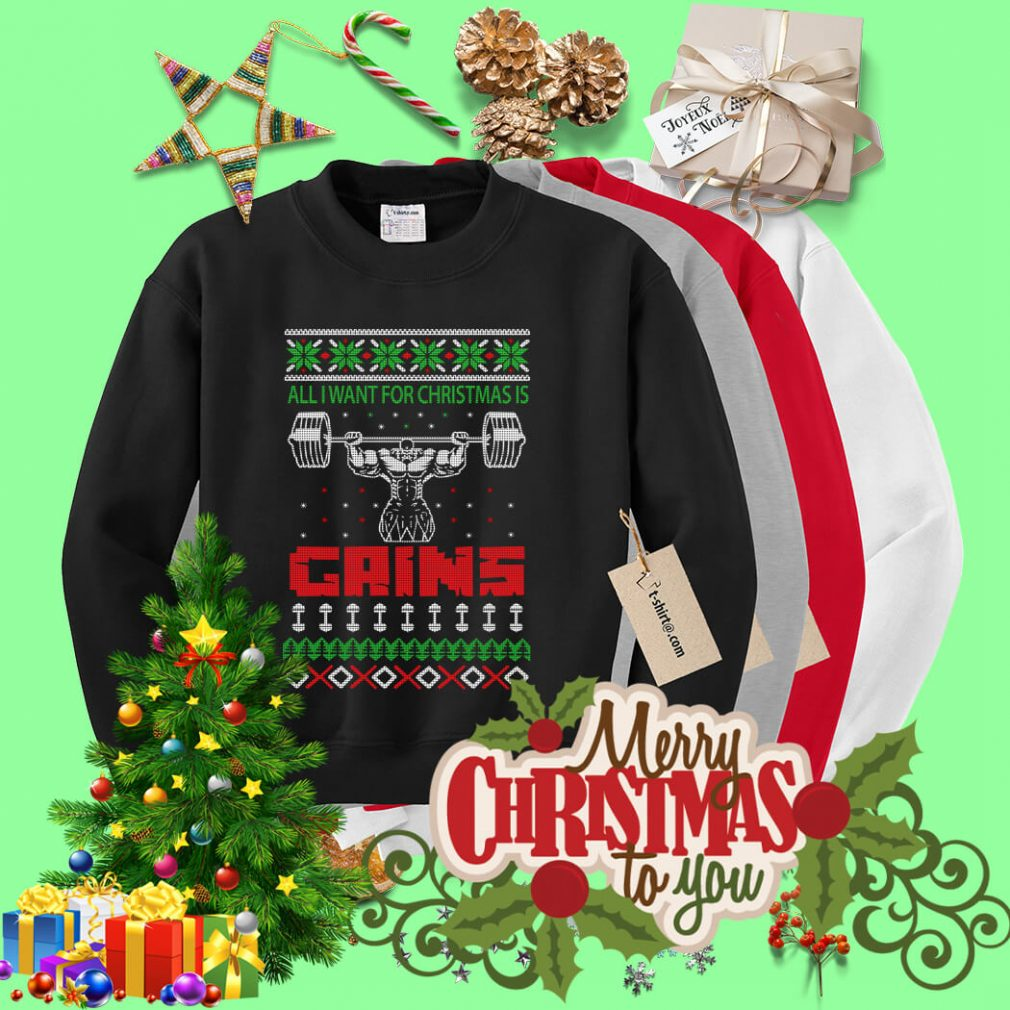 All I want for Christmas is Gains ugly sweater