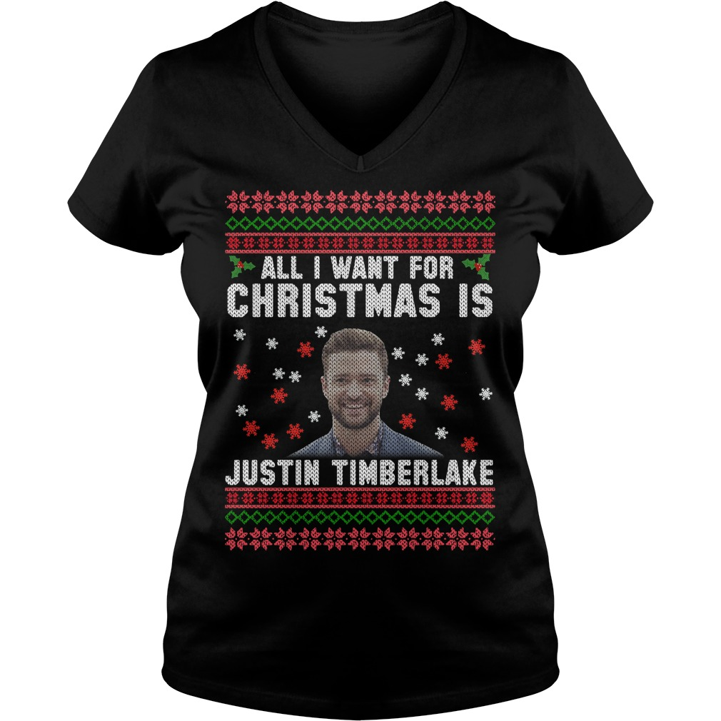 All I want for Christmas is Justin Timberlake V-neck T-shirt
