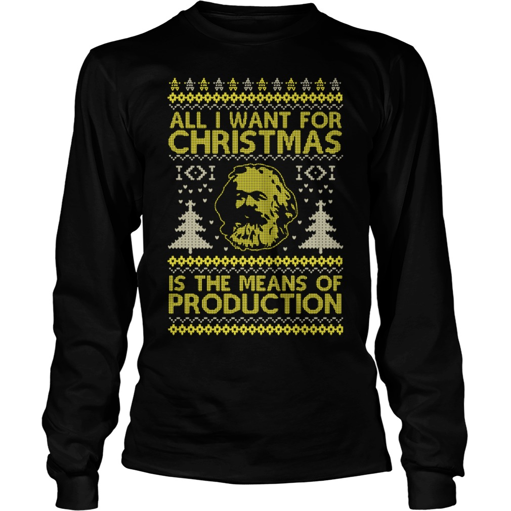 All I Want for Christmas Is A 32 County Socialist Republic with The Means of Production Longsleeve Tee and sweater