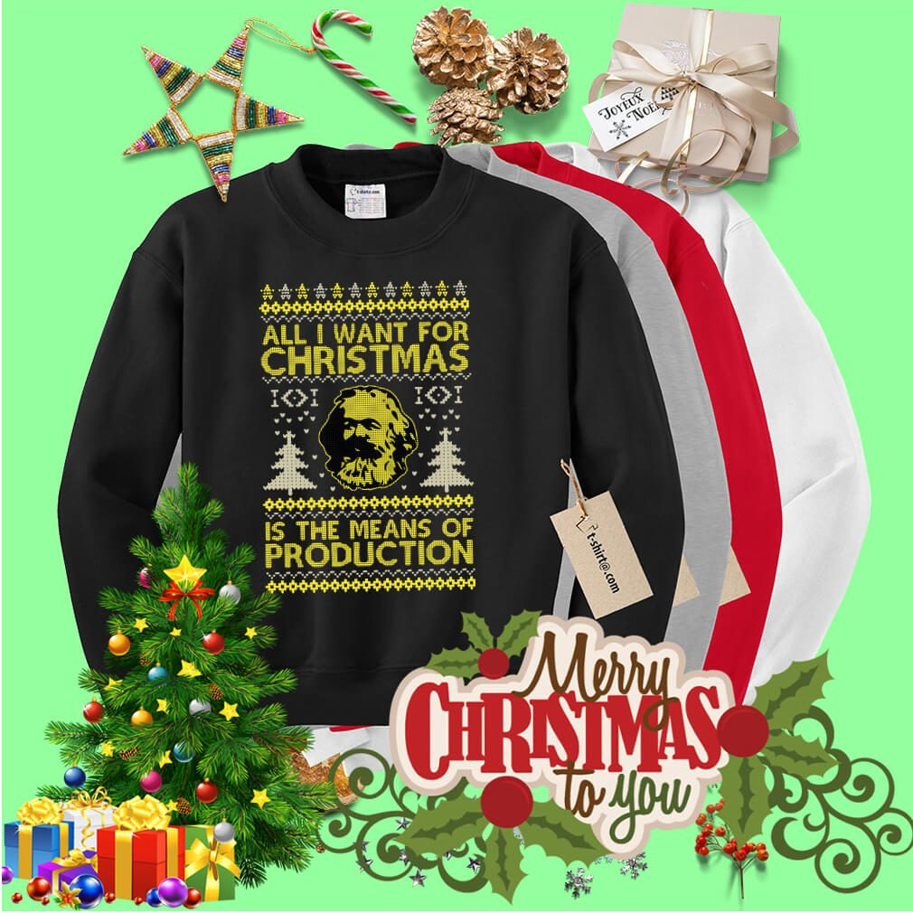 Karl Marx All I want for Christmas is the means of production sweater