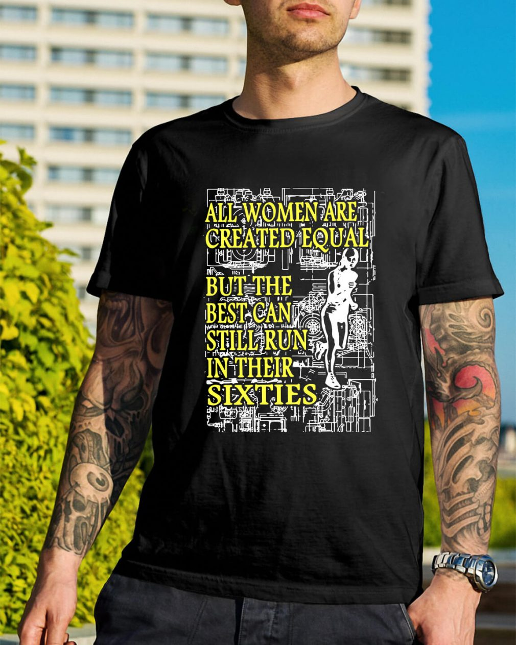 All women are created equal but the best can still run in their sixties shirt