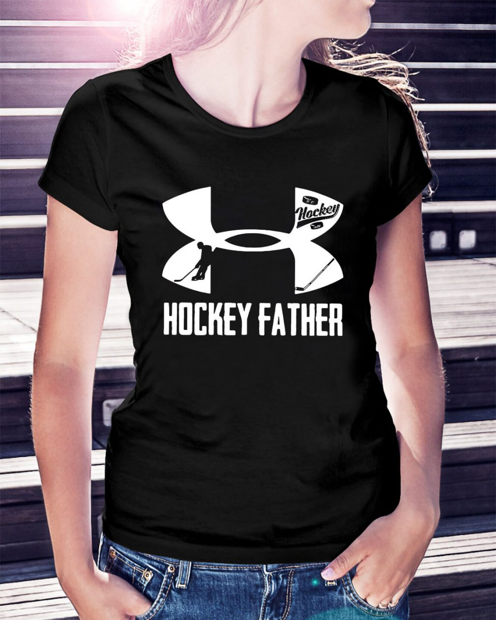 Under Armour hockey father Ladies Tee