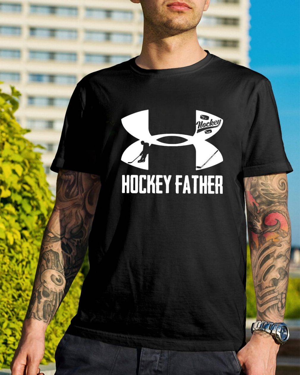 Under Armour hockey father shirt