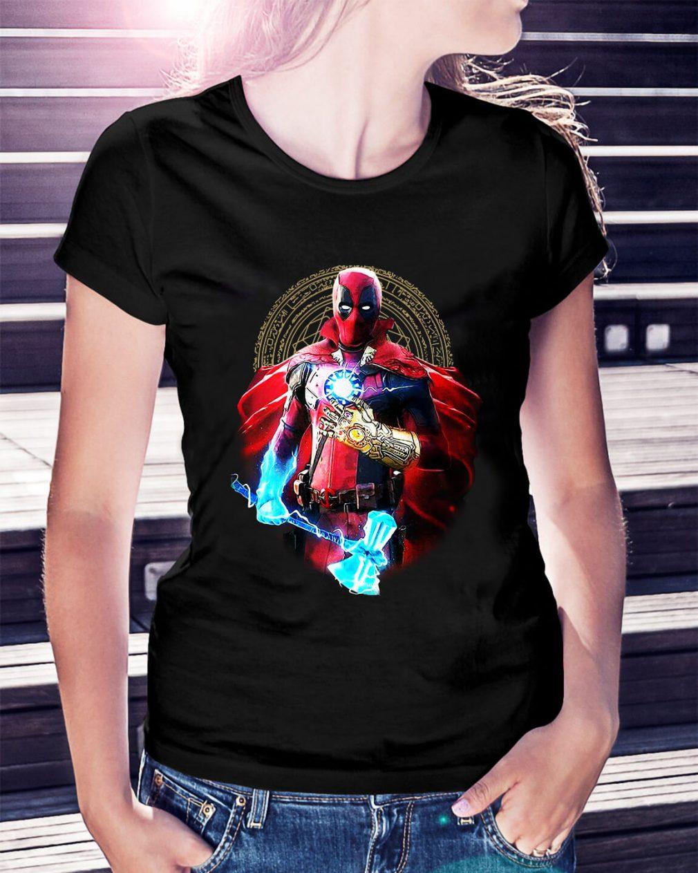 Avengers Infinity Deadpool Ladies Tee