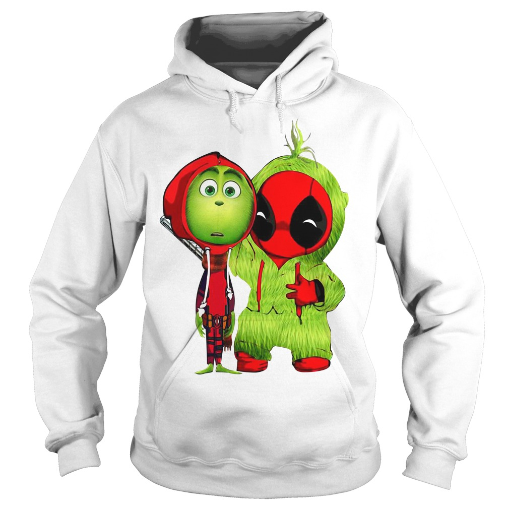 Baby Deadpool and Baby Grinch Christmas Hoodie