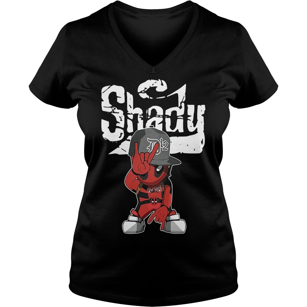 Baby Deadpool slim Shady V-neck T-shirt