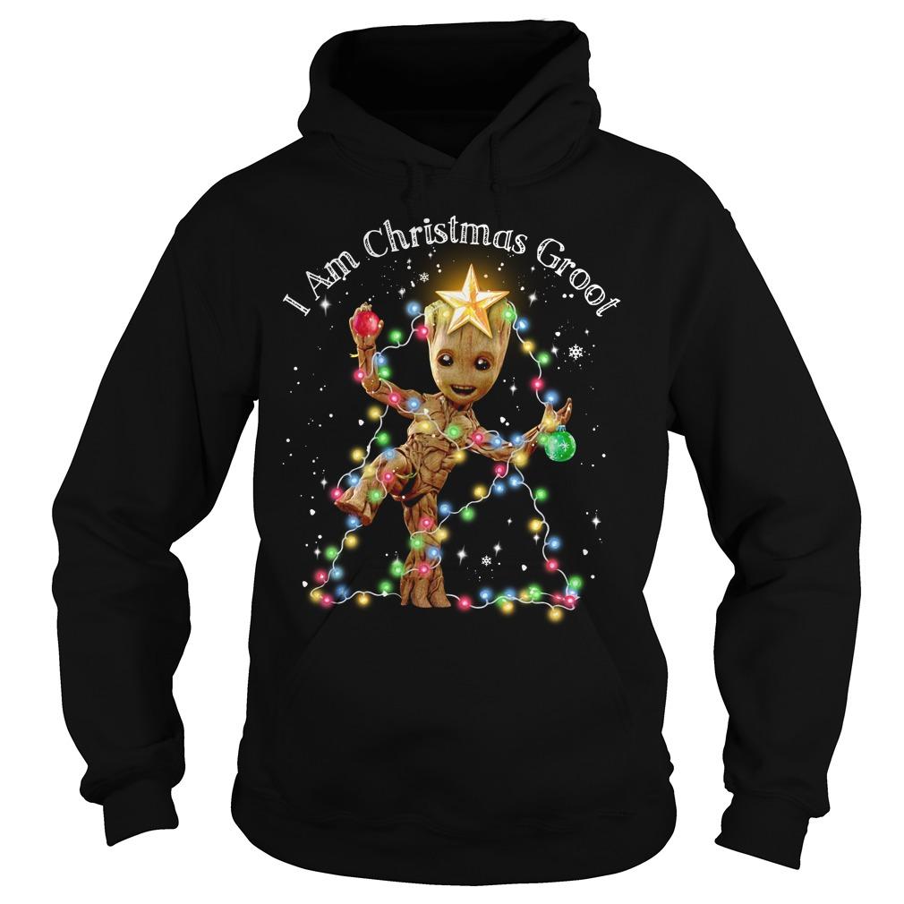 Baby Groot I am Christmas Groot light Hoodie