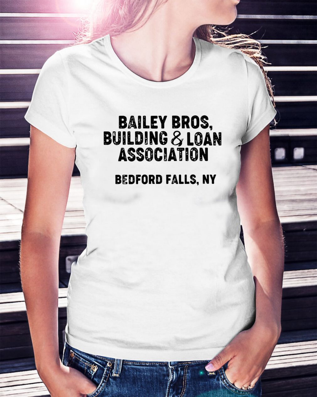 Bailey bros building and loan association Bedford falls NY Ladies Tee