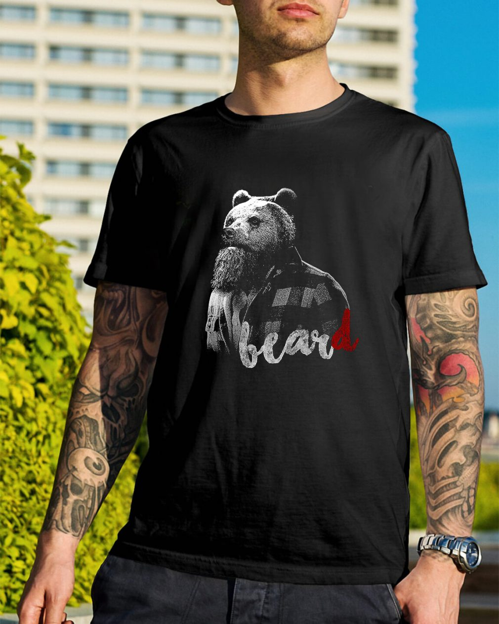 Bear with BearD shirt