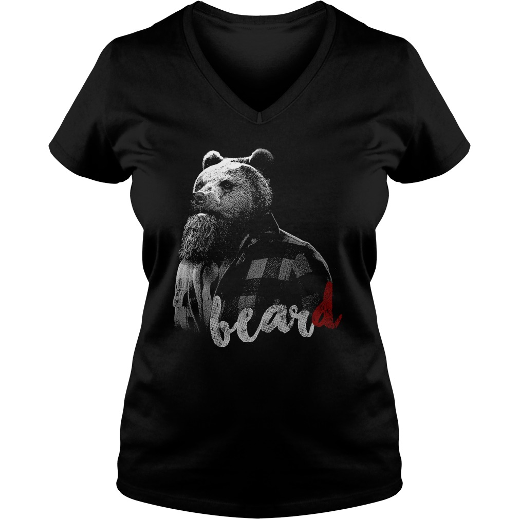 Bear with BearD V-neck T-shirt