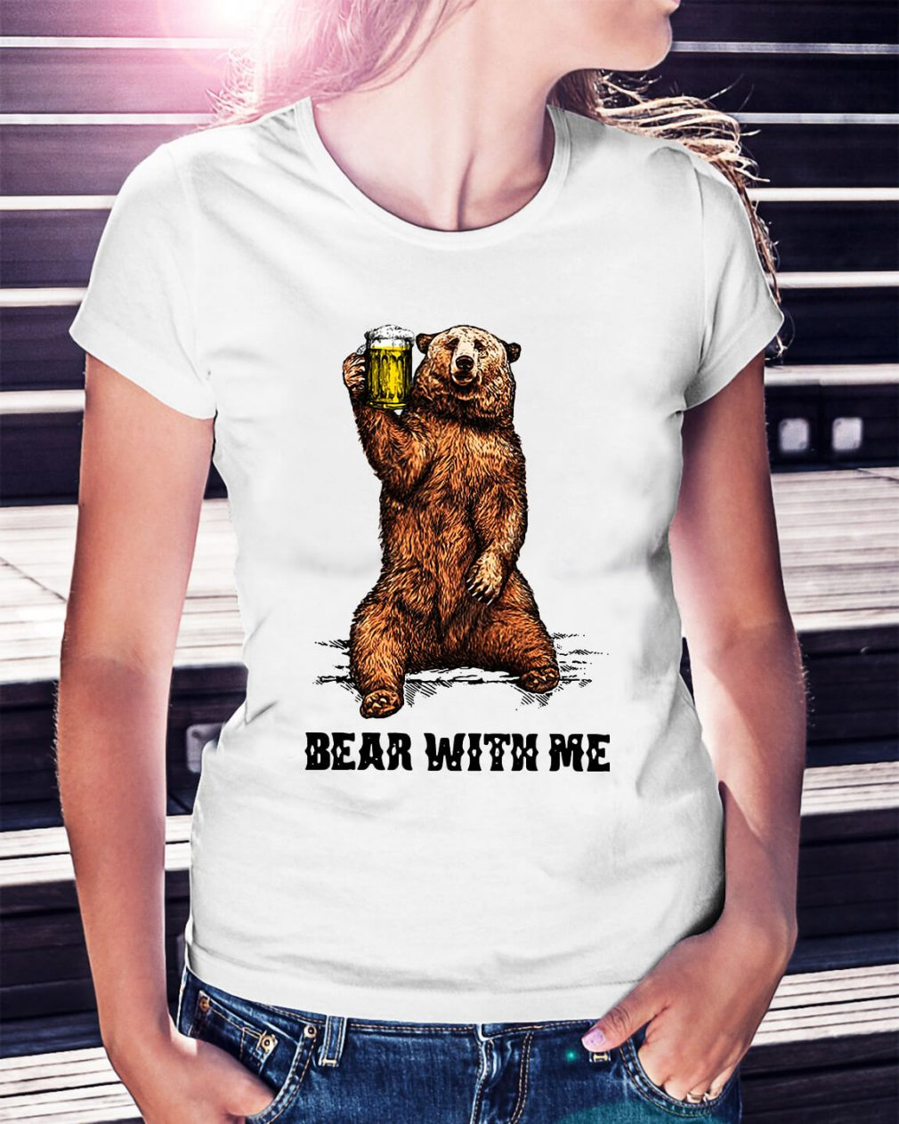 Beer bear with me Ladies Tee