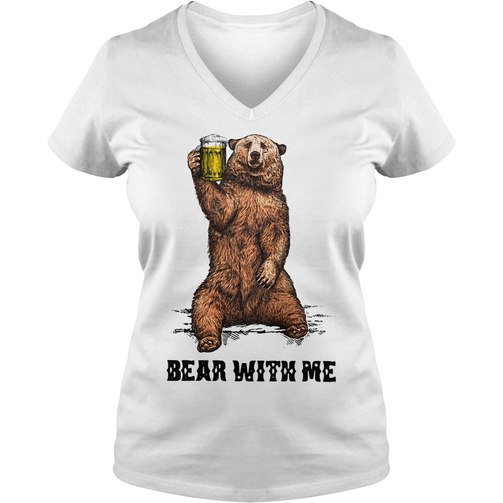 Beer bear with me V-neck T-shirt