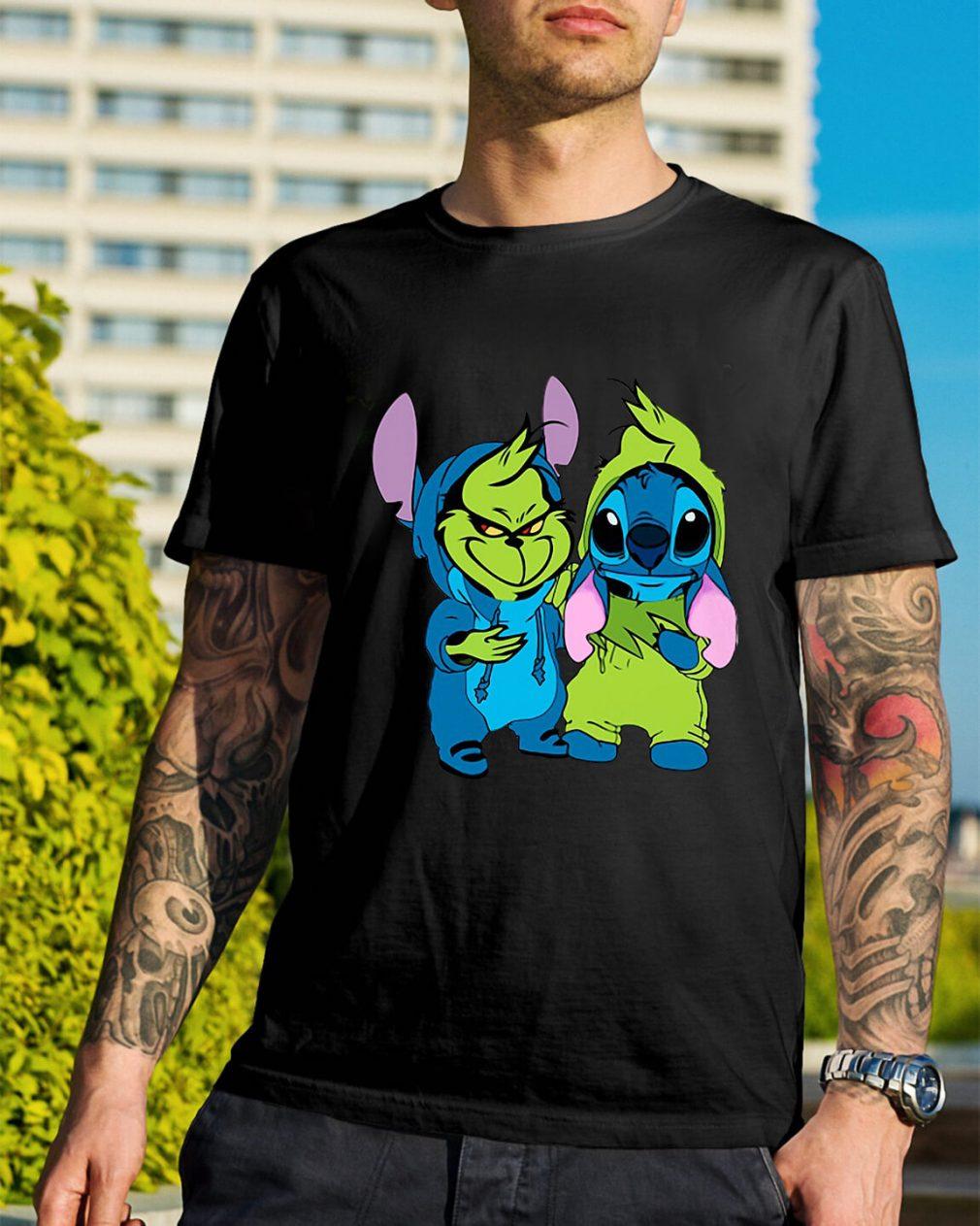 Best friends Baby Grinch and Stitch shirt