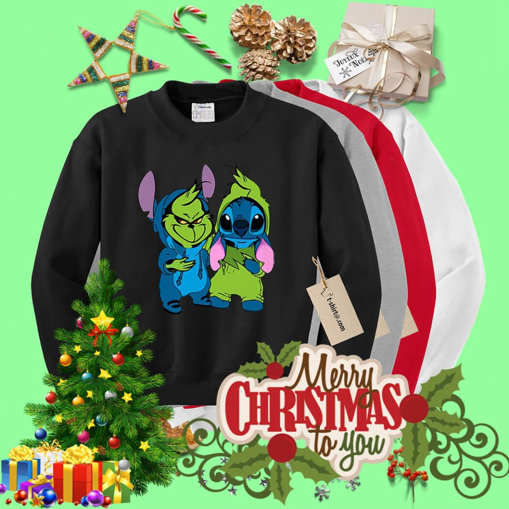 Best friends Baby Grinch and Stitch Sweater
