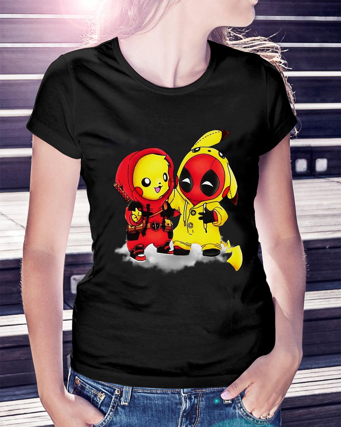 540da39e Best friends Deadpool and Pikachu shirt, hoodie, sweater and v-neck ...