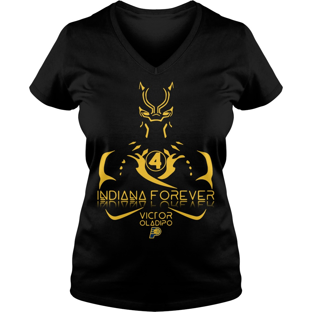 Black Panther Indiana forever Victor Oladipo V-neck T-shirt