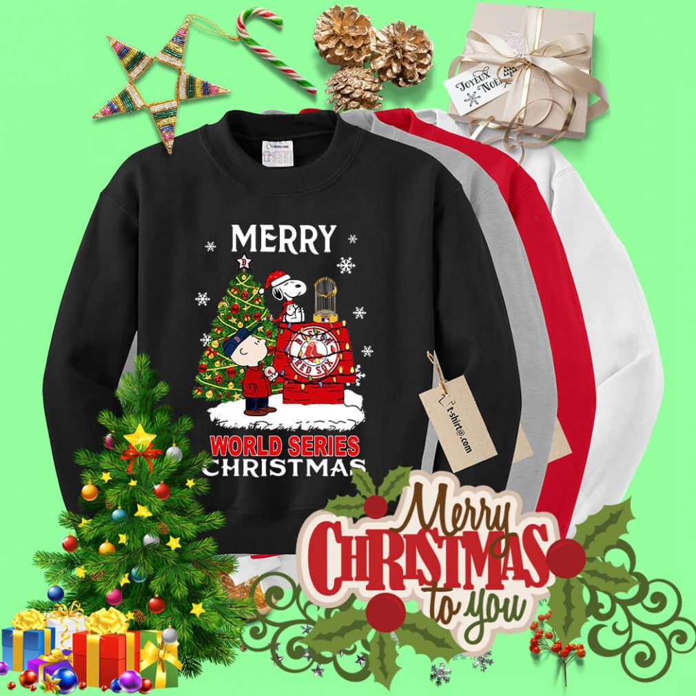 Boston Red Sox the Peanuts Snoopy world series Christmas shirt, sweater