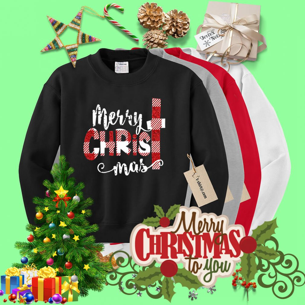 Buffalo Plaid Merry Christmas shirt, sweater