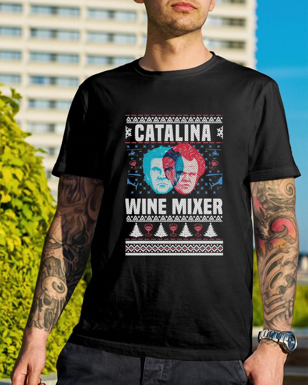 Catalina wine mixer knitting pattern 3D all over print Guys Shirt